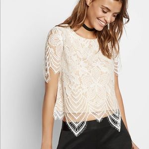 Express all over Lace tee